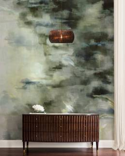 Water Reflection - hand painted wallpaper - buenaventura